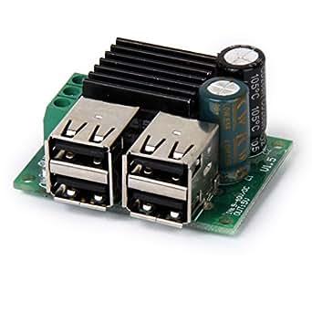 DC 12V 24V 40V to 5V  USB電源モジュール  ステップダウン降圧