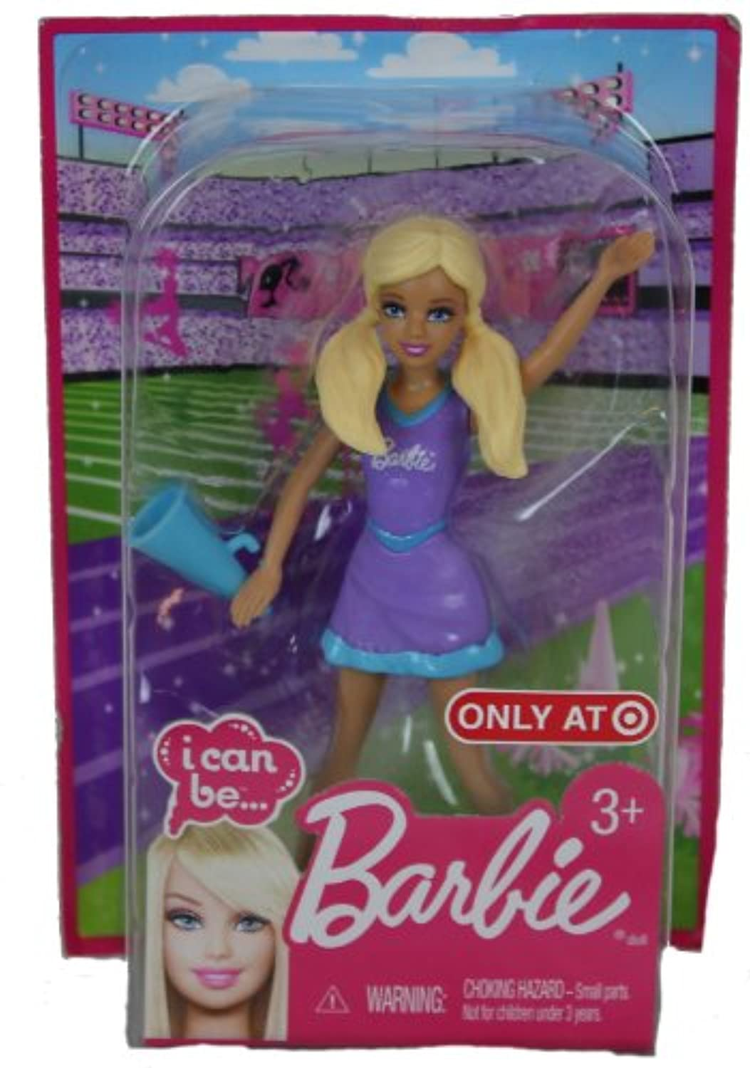 Barbie I Can Be A Cheerleader Mini Plastic Blonde Doll by Mattel [並行輸入品]