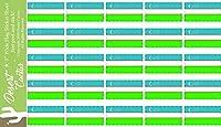 ウズベキスタン国国旗ステッカーデカール1インチ長方形2つシート50Total Pieces Kidsロゴスクラップブック車