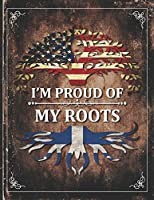 Im Proud of My Roots: Vintage Martinique and American Flag Personalized Gift for Coworker Friend  2020 Calendar Daily Weekly Monthly Planner Organizer