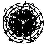 音符時計 掛け時計 G-1169BK