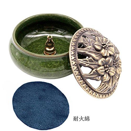 [해외]HARU (헐) 도자기 향로 향 아로마 향 서 서있는 도자기 원형 향로/HARU (Hull) pottery incense burner incense incense aromatic incense incense stand with china round incense burner