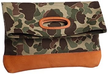 Tochigi Leather Clutch Bag 118-48-0011: Camouflage