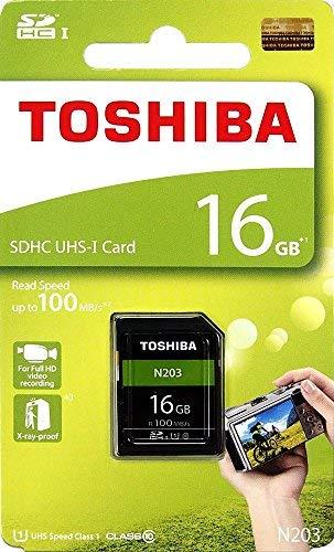 東芝 16GB N203 SDHC UHS-IカードU1クラス10 SDカードメモリカード100 M...