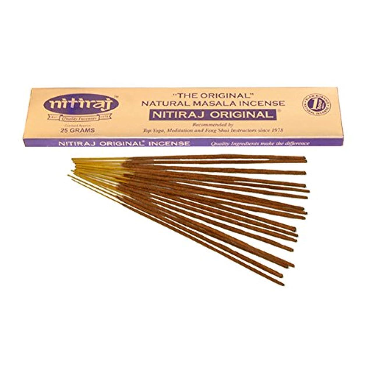 シャイニング責任者ボーダー(25 Grammes) - Nitiraj The Original Natural Masala Incense Slow Burning 1 Hour per Stick