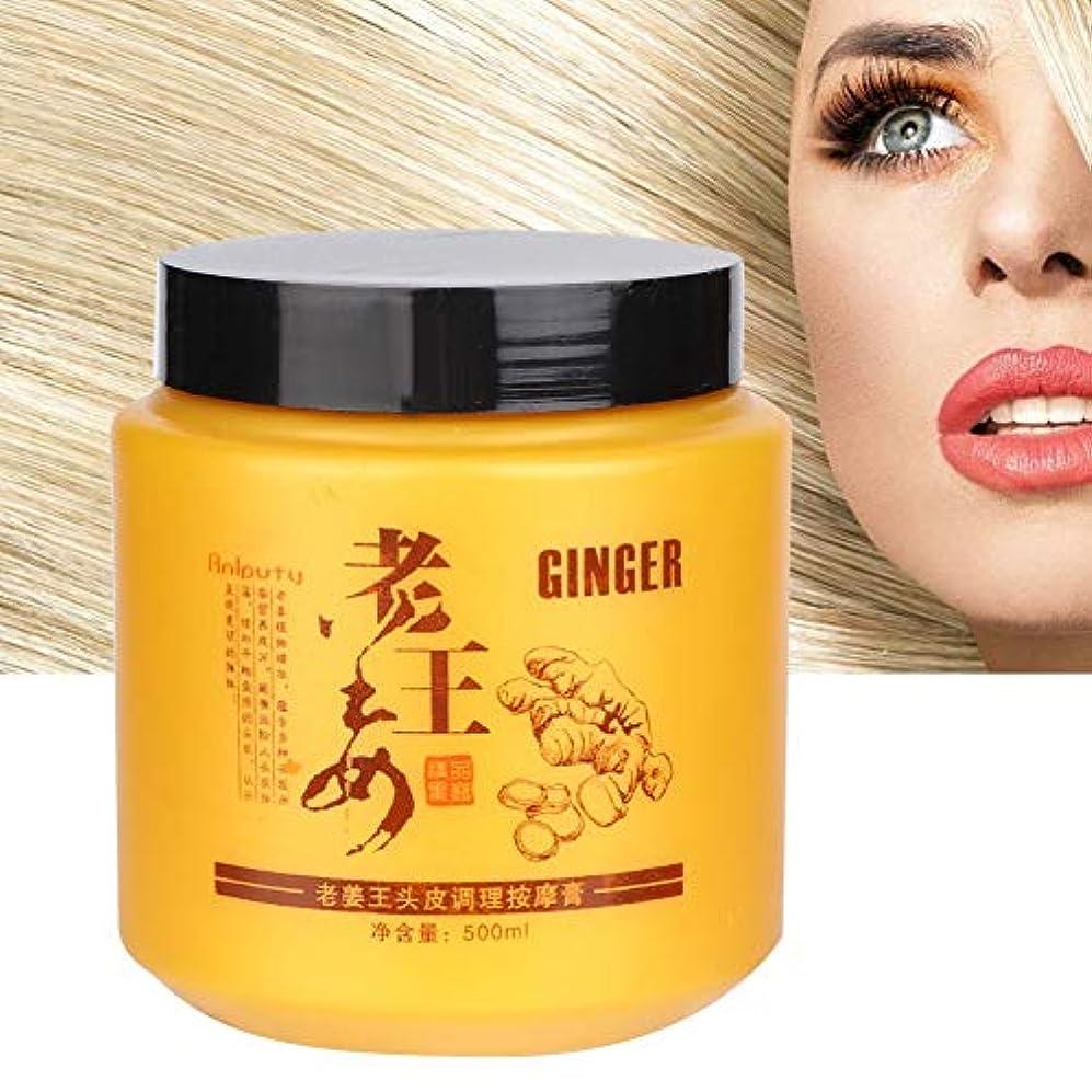 実験的アラーム角度ヘアマスク、保湿強化粘り強く修復ダメージを受けたヘアマスク用女性頭皮コンディショニングマッサージクリーム500ミリリットル