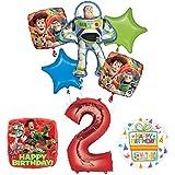 トイストーリー2 nd BirthdayパーティーSuppliesとバルーンブーケデコレーション