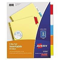 avery insertableビッグタブディバイダー 5 tab 手紙 avery 画像で旅する