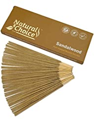Natural Choice Incense Sandalwood Incense Sticks 100 gm – Made from Scratch – No Dipping