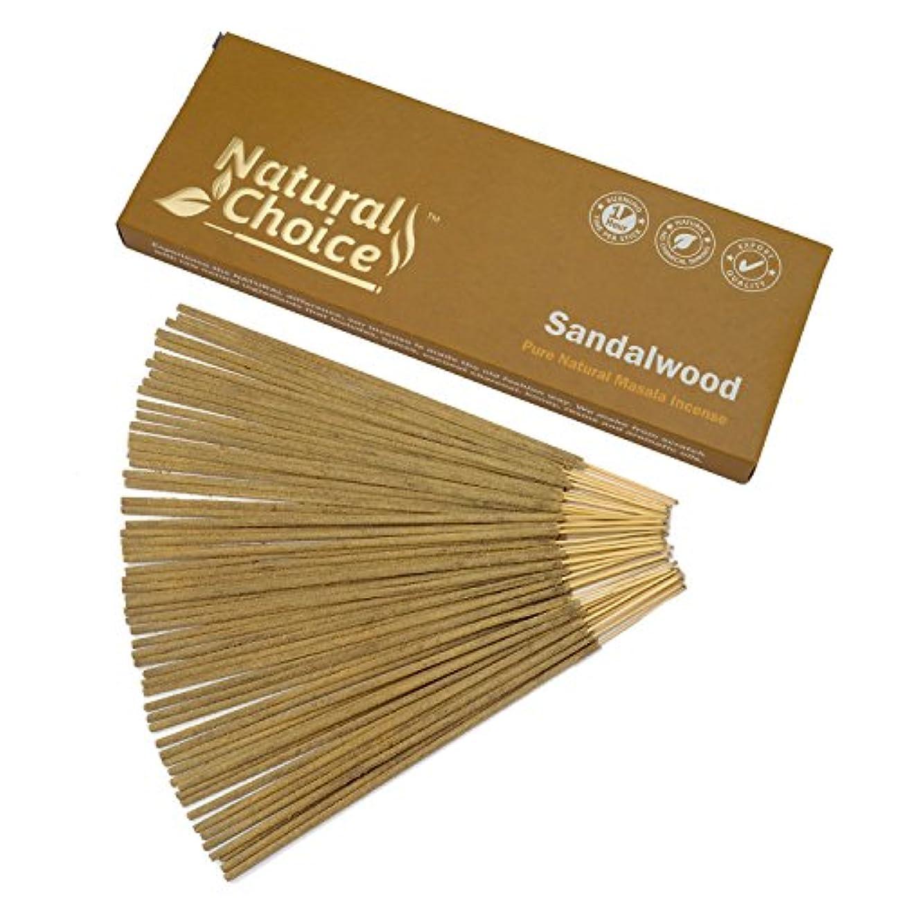 ゴムドレイン違反Natural Choice Incense Sandalwood Incense Sticks 100 gm – Made from Scratch – No Dipping