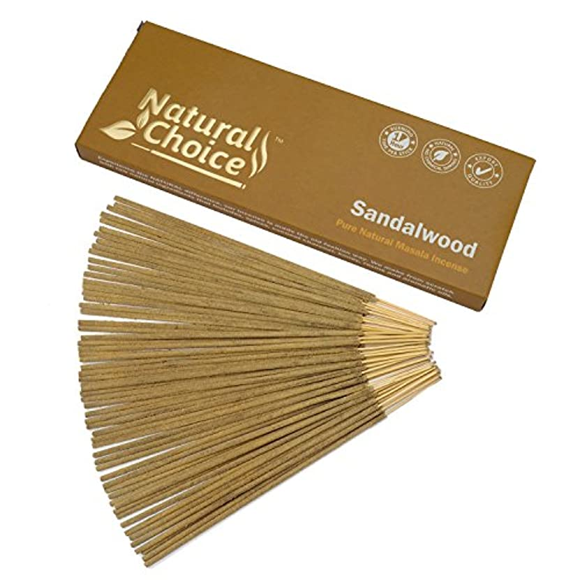 採用する歌コーンウォールNatural Choice Incense Sandalwood Incense Sticks 100 gm – Made from Scratch – No Dipping