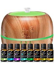ArtNaturals Aromatherapy Essential Oil andディフューザーセット – 150 ml & Top 8 – ペパーミント、ティーツリー、ローズマリー、オレンジ、レモングラス、ラベンダー...