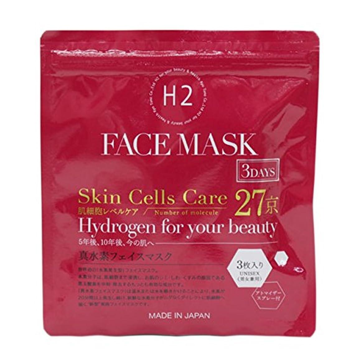 スラム使用法バルーンKyotomo 真水素フェイスマスク 3枚