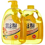 Mama Lemon Dishwashing Liquid, Lemon Gold, 1L Banded with 1L Refill