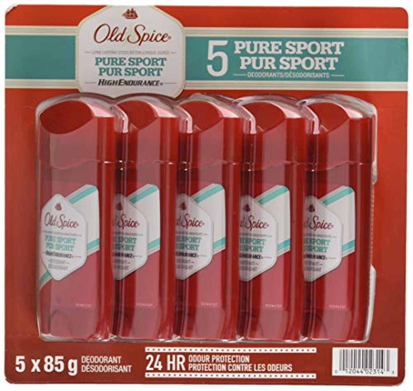 一握りひばり進化オールドスパイス ハイエンデュランス ピュアスポーツ デオドラント スティック 85g × 5個 並行輸入 Old Spice High Endurance Pure Sport 3.0 oz Pack of 5