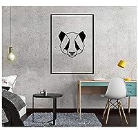 Wsqyf 北欧アート幾何学パンダウォールステッカーリビングルームオフィスの装飾取り外し可能な子供壁画ステッカービニール壁紙デカール43×60センチ