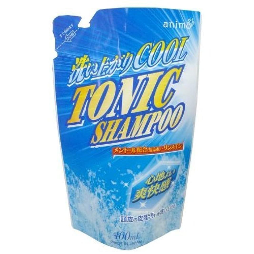 シーフード治すモンキーロケット石鹸 トニックシャンプー 詰替用 400ml ×3点セット(4571113801403)