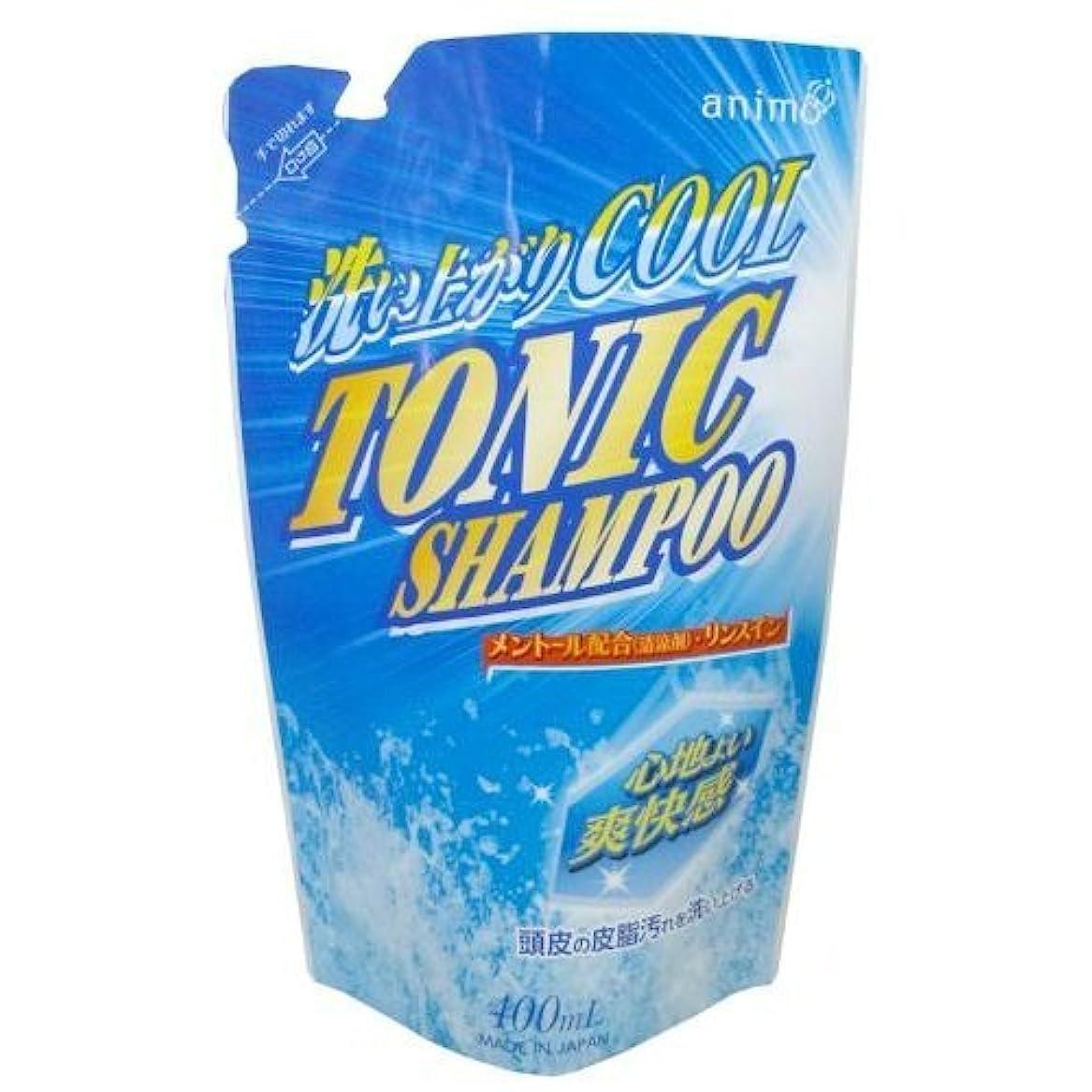 音節に関して汚いロケット石鹸 トニックシャンプー 詰替用 400ml (4571113801403)