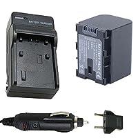 バッテリーと充電器for JVC Everio gz-e205、gz-e300、gz-e305フルHDメモリビデオカメラ
