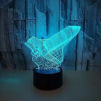 Dtcrzj Pp新しいロケット3Dライトカラフルなリモートコントロールタッチ3D Ledライト新しい奇妙なクリエイティブテーブルランプ