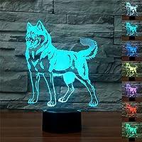 ZTOP Abstractive 3d Optical Illusion抽象恐竜カラフルな照明効果タッチスイッチUSB電源LED装飾ナイトライトデスクランプ