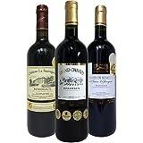 【Amazonワインエキスパート厳選】合計10冠! 金賞受賞ボルドー赤ワイン 飲み比べ 750ml×3本セット 2250ml