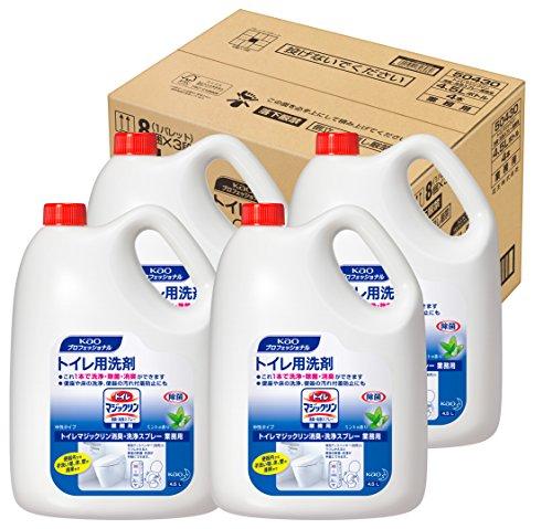 トイレマジックリン 消臭・洗浄スプレー 業務用 梱販売用 4.5L*4コ入り