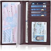 Leather Checkbook Cover Holder for Women - Standard Register Duplicate Checks RFID