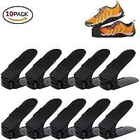 koobea 10個靴収納 靴ホルダー 高さ調節機能付き,シューズラック 省スペース 男女兼用 整理 靴立て 耐久性ストレージラック