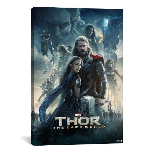 iCanvasART Marvel Movie: Thor The Dark World Movie Poster No.2 by Marvel Comics Canvas Art Print, 40 by 26-Inch by iCanvasART [並行輸入品]