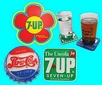 7UP:ペプシ コースター  ラバー素材 3種類セット