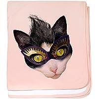 CafePress – Masked Cat – スーパーソフトベビー毛布、新生児おくるみ ピンク 08525355916832E