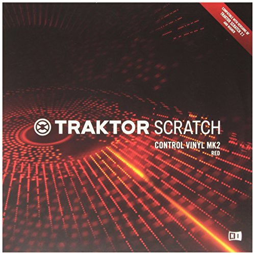 Native Instruments DJアクセサリー TRAKTOR Scratch Control Vinyl MK2 Red