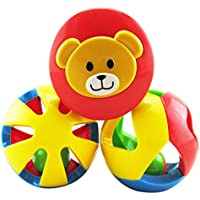 3pcsプラスチック子供赤ちゃんおもちゃJingle Ball RattlesローリングボールリングベルGraspトイ?インテリジェンスのおもちゃ新生児子供幼児用
