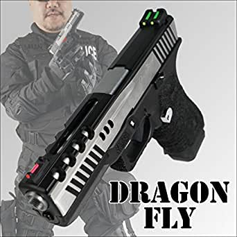 APS CO2ガスブローバックハンドガン ドラゴンフライ DRAGONFLY Silver Edge D-MOD Deluxe グロック エアガン ミリタリー