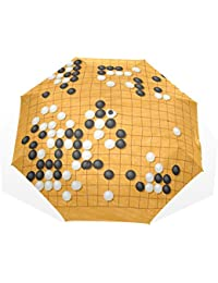 AOMOKI 折り畳み傘 日傘 折りたたみ傘 手開き 三つ折り 梅雨対策 晴雨兼用 UVカット 耐強風 8本骨 男女兼用 囲碁 幾何学