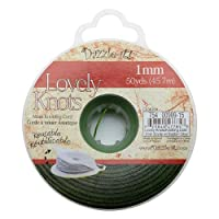 Lovely Knots - Asian Knotting Cord 1mm Thick - Olive Green (50 Yards On Bobbin)