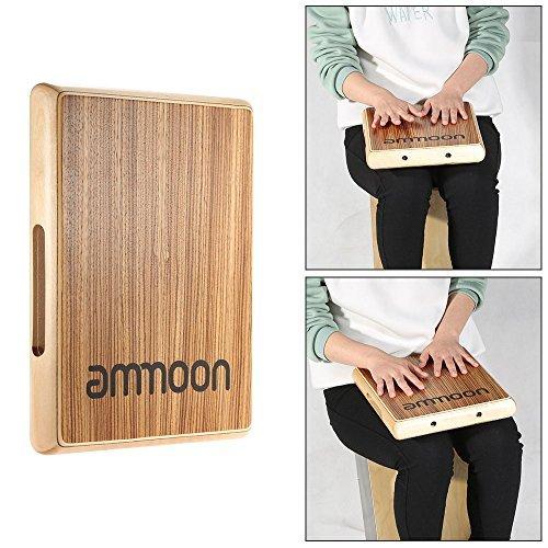 ammoon カホン トラベルカホン ドラム 31.5 * 24.5 * 4.5cm ゼブラ木 パーカッション・打楽器