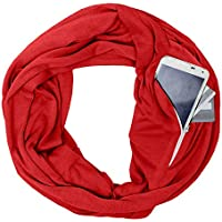 Goalftek Portable Women Scarf with Pocket Infinity Scarf Winter Autumn Travel Journey Scaves