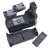 DSTE プロ BG-E20 赤外線 リモコン 垂直 バッテリーグリップ + 2x LP-E6 のために Canon キャノン EOS 5D Mark IV カメラ