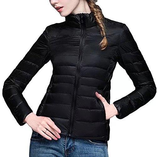 Fosal ダウンコート ライトダウン レディース アウトドア 軽量 着痩せ 暖かい ダウンジャケット おしゃれ カジュアル (XL, ホットピンク )