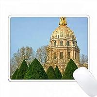 Les Invalides Eglise du Domeの写真Rodins garden、パリ、フランス PC Mouse Pad パソコン マウスパッド