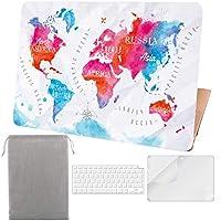 Sykiila 2017年版MacBook Air 13インチ用ケース (モデル A1932、Touch ID & Retinaディスプレイ付き) 4イン1 ハードカバー + HDスクリーンプロテクター + TPUキーボードカバー + スリーブ マルチカラー A13R-SMC065