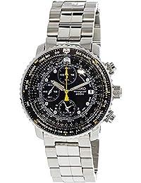 [セイコー]SEIKO 腕時計 QUTARZ CHRONOGRAGH クオーツ クロノグラフ SNA411P1 パイロット ブラック メンズ 逆輸入