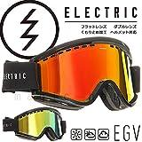 (エレクトリック)ELECTRIC EGV AF メンズ レディース スノーボード スキー ゴーグル スノボ ボード用 スノーゴーグル アジアンフィット ミラー加工 くもり止め 平面 ダブルレンズ GLOSS BLACK BRONZE/RED CHROME