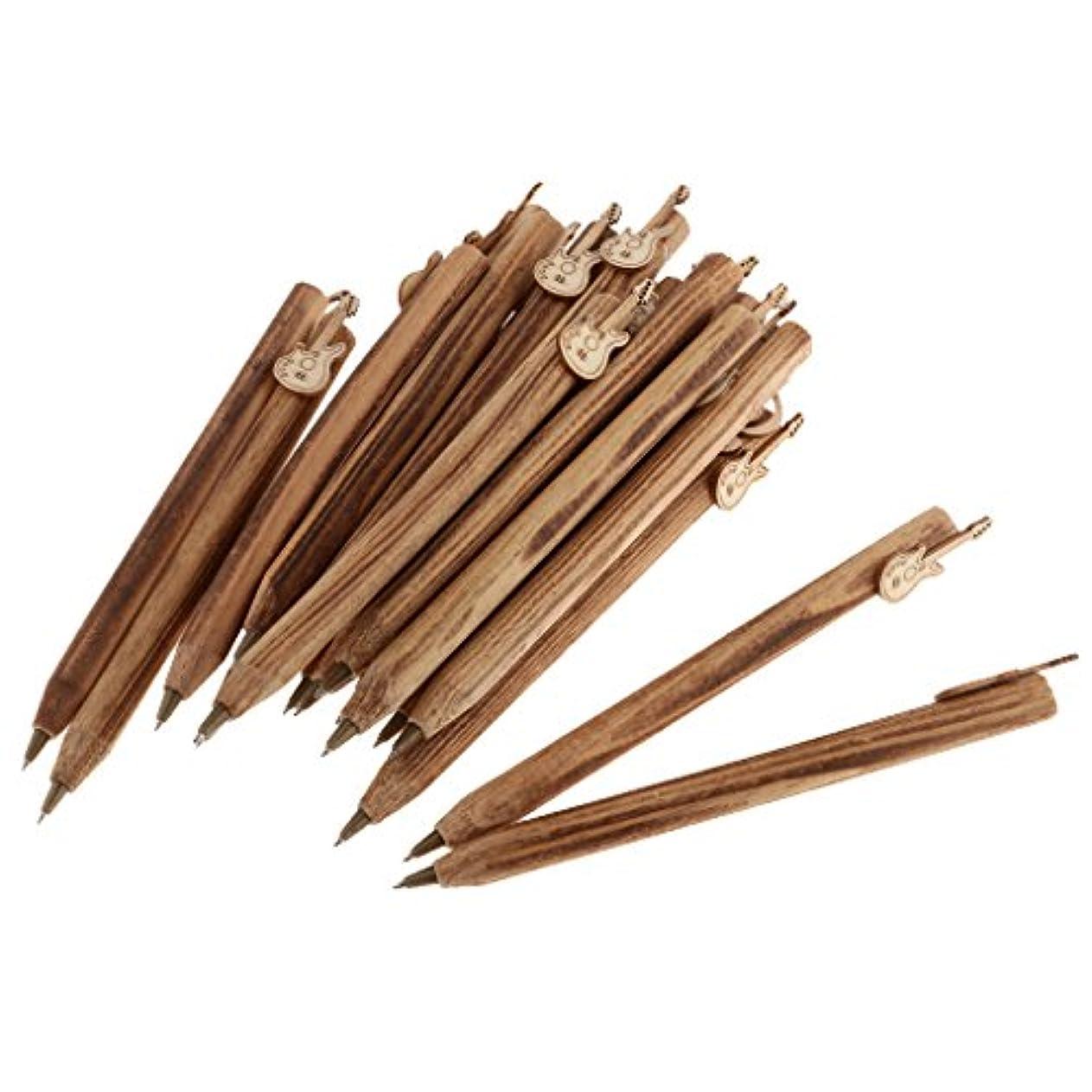 失態ふさわしい取り付け約20個 ボールペン 木製 木彫り ギフト 学生 子供 書き込み 文房具