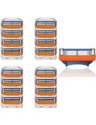 KISENG 16枚 5刃シェーバーヘッド 交換用 シェービングカミソリ ジレットに適用