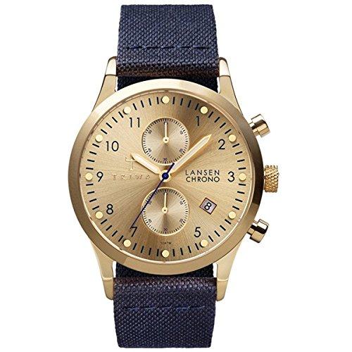 [トリワ]TRIWA メンズ レディース ユニセックス ランセンクロノ クロノグラフ ネイビー ナイロン レザー ゴールド LCST103-CL060713 腕時計 [並行輸入品]
