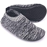 Dream Bridge Kids Toddler Slipper Socks with Rubber Sole Non-Slip Knit Lightweight House Slippers for Boys Girls