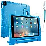 iPad Air 2, Pro 9.7 保護ケース + 保護フィルム + スタイラス AFUNTA スタンド として使え EVA 保護ケース PET カバー Apple タブレット 用-ブルー